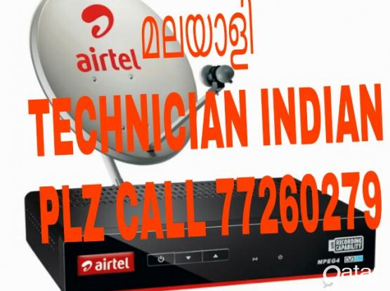 AIRTEL SATELLITE DISH HD RECEIVER SALE INSTALLATION TECHNICIAN INDIAN KERALA