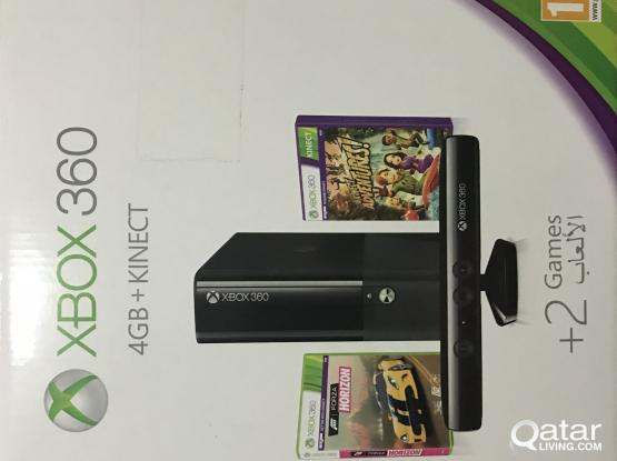 XBOX 360 4GB+KINECT FOR SALE