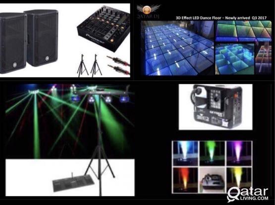 تأجير سماعات واضاءة واستيجات  Rental of sound, light, Stage & more