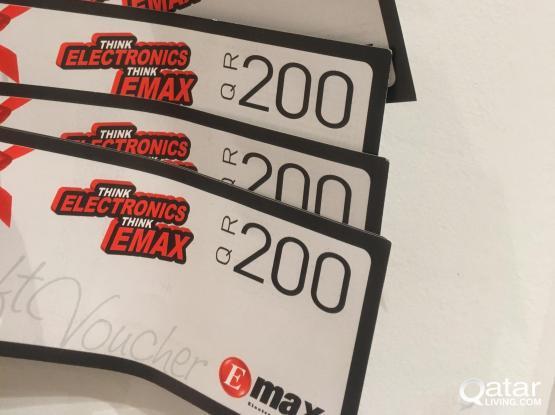 E MAX Coupons worth QR 1200