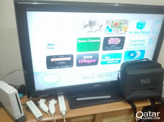 Wii with 9 DVD games