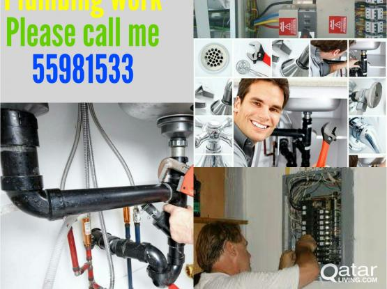 Electric,plumbing, painting and all MAINTENANCE work. Please call / whatsapp me 55981533.