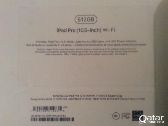 New IPAD Pro 512 GB 10.5