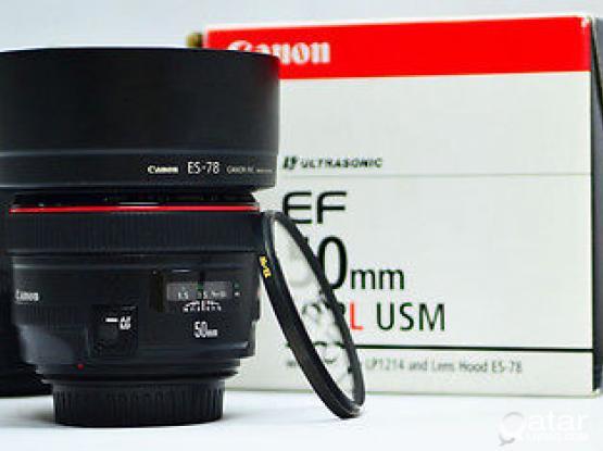 canon 50MM 1.2 L almost new