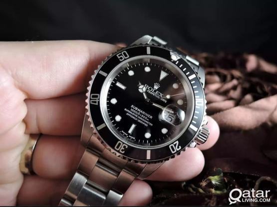 ROLEX SUBMARINER ......AUTOMATIC (COPY WATCH)  QTR 750  saphire glass..  40 mm   all stainless steel