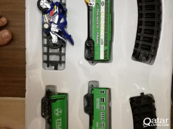 Kids Battery operated Toy Train with coaches Working fine