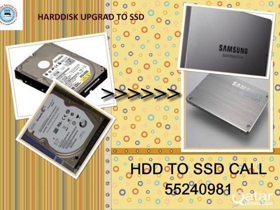 COMPUTER HARDDISK TO SSD UPGRADE