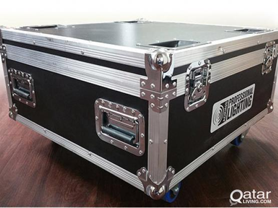 LED LIGHTS WITH FLIGHT CASE + DMX 512 CONTROLLE + CLAMPS + LOOP CABLES