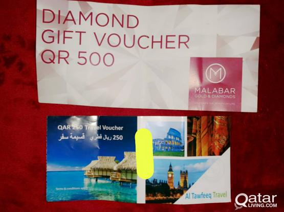 GIFT COUPON FOR SALE (MRP 750)