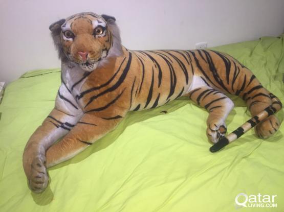 CHILDREN PLUSH ARTIFICIAL SIMULATION Tiger fur FABRIC DOLL TOYS