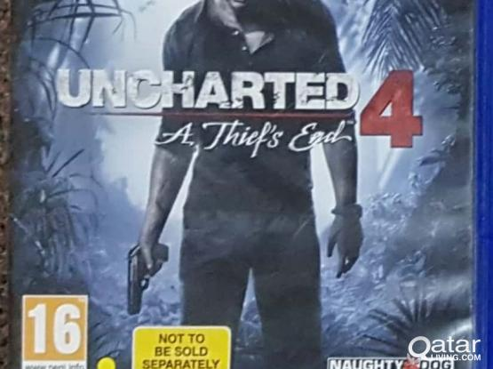 uncharted 4 ps4 for sale or swap