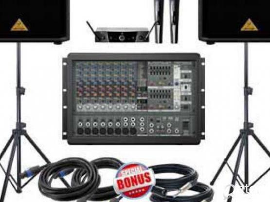 2Professional Speaker with mixer for sale