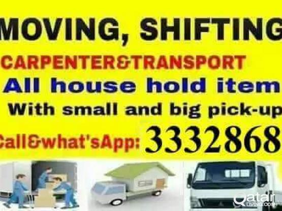 CALL/33328681--ALL HOUSE HOLD ITEMS SHIFTING &MOVING,CARPENTERY,BIG & SMALL TRUCK