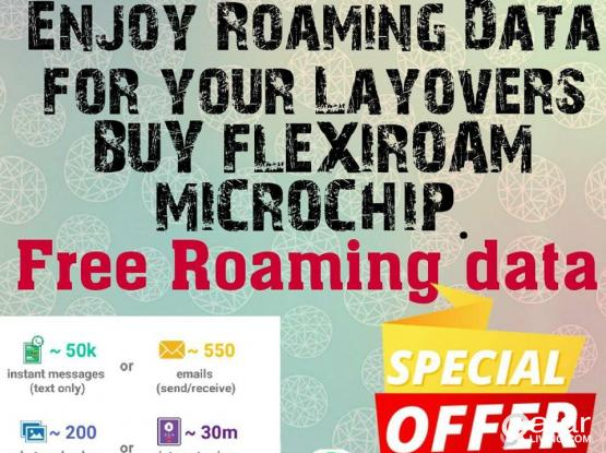 ENJOY FREE DATA ROAMING IN 120 COUNTRIES, WITHOUT CHANGING YOUR SIM CARD!!!!!!