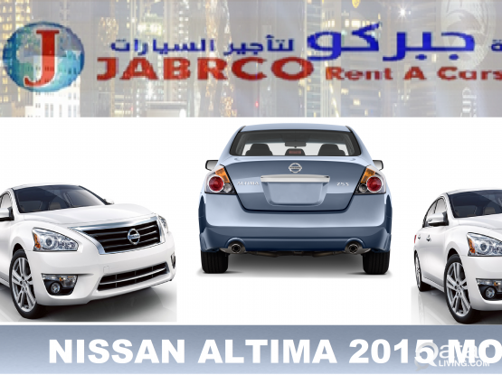 NISSAN ALTIMA 2015 MODEL FOR RENT .( Monthly QR. 2800 Only  ) CALL NOW :  Mob. No :3017792