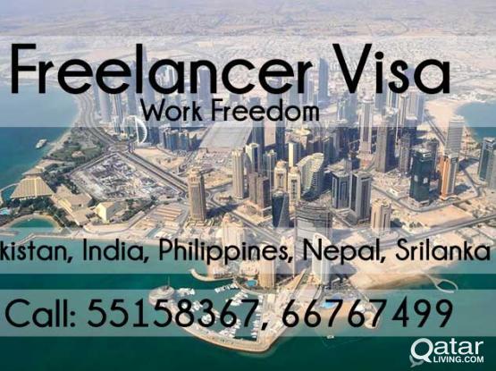 Freelance Visa with Qatar ID (Pakistan, India, Philippines, Nepal, Srilanka)