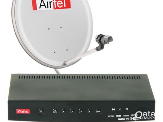 Urgent Sale Airtel Dish & Airtel Receiver