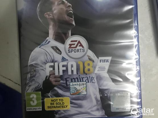 PS4 Game for sale (sealed) New FIFA 2018 with PlayStation  plus (14 days trial)