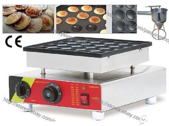 25pcs Commercial Nonstick 220v Electric Dutch Poffertjes Mini pancake