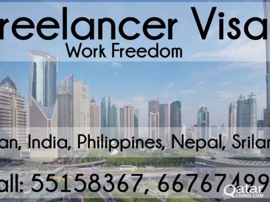 Pakistan, India, Philippines & more. Freelance Visa with Q ID. Work freedom!