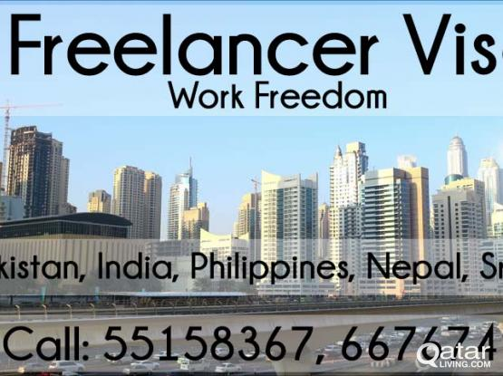 Freelance Visa for Male & Female of Pakistan, India, Philippines and more.