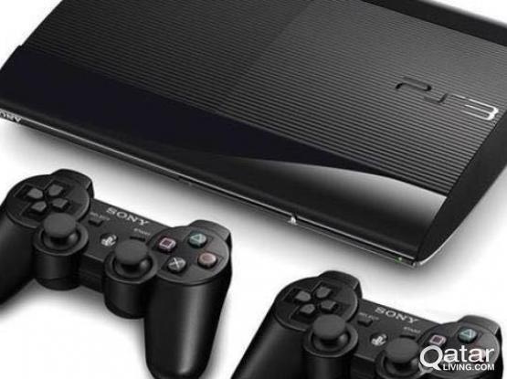 PS3 500gb console+ 2remotes+6games