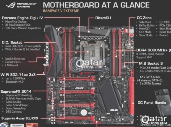 Motherboard-ASUS X99 ROG Rampage V Extreme gaming