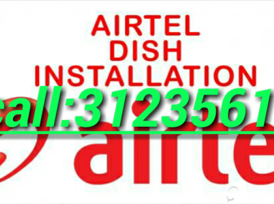 AIRTEL HD DISH with Installation only 500qr
