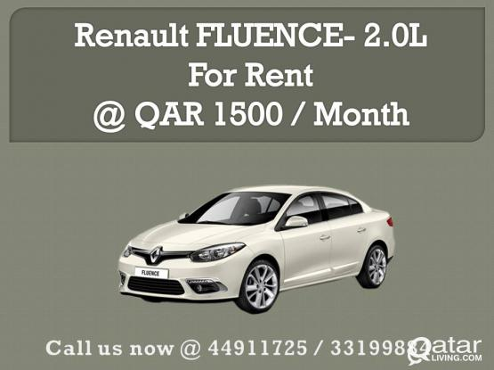 Renault Fluence 2015 for Rent