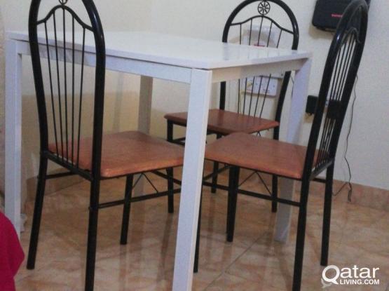 Ikea Table & 3 chairs, 2 Bedside Table, 1 sofa