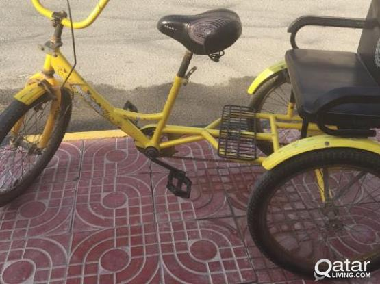 """Tricycle 20""""with back seat"""