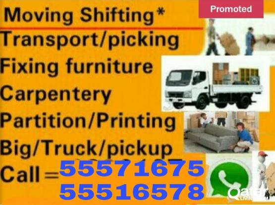 call 55516578 House shifting & moving packing  Carpenter Transportation service