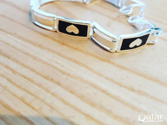 men silver bracelet , sterling silver 925