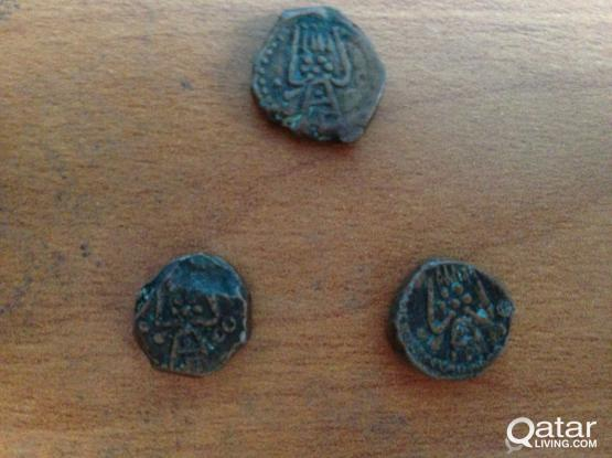 Ancient 15th century copper coin for sale.