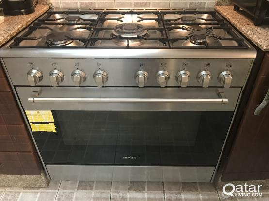 Siemens stainless gas cooker