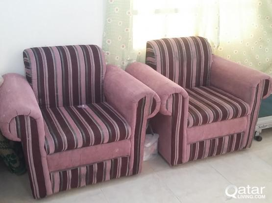 two single sofa for sale good condition