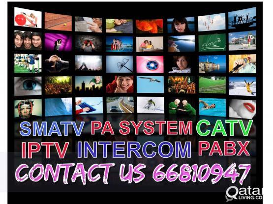 cable tv smatv iptv pabx pa system intercom headen