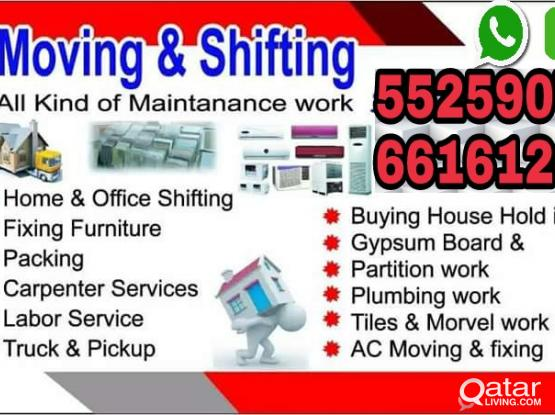 Low price house shifting & moving packing carpenter transporation service