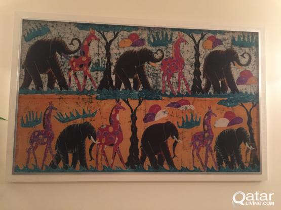 Frame, Unique, Authentic African Canvas, Med size