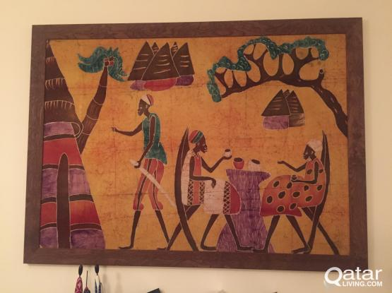 Frame, Unique, Authentic African Canvas, Big size