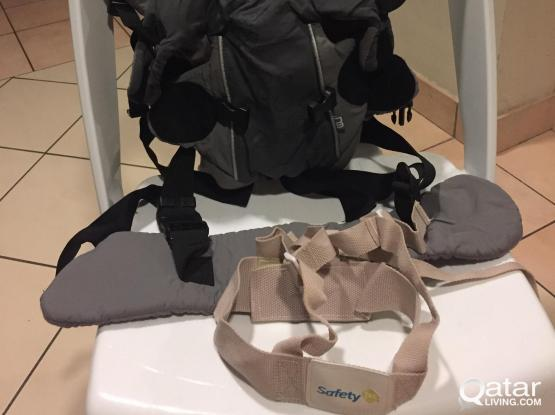 mothercare baby body carrier + toy