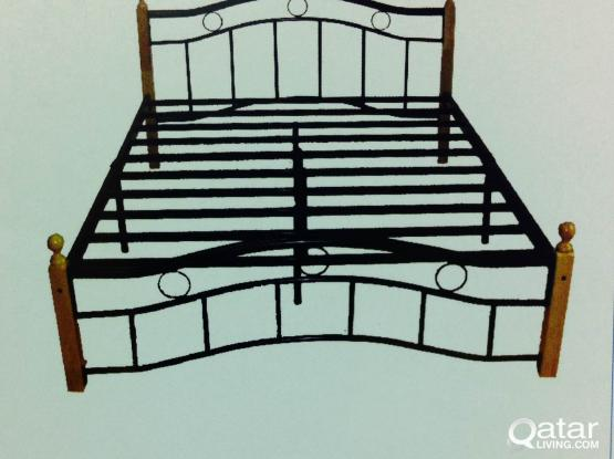 WOODEN STEEL BED IN ALL SIZES BRAND NEW - PH: 33280157