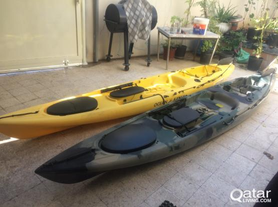Ocean Kayak with Speed Motor for sale (2 No) for QR 9000 each (NEGOTIABLE)