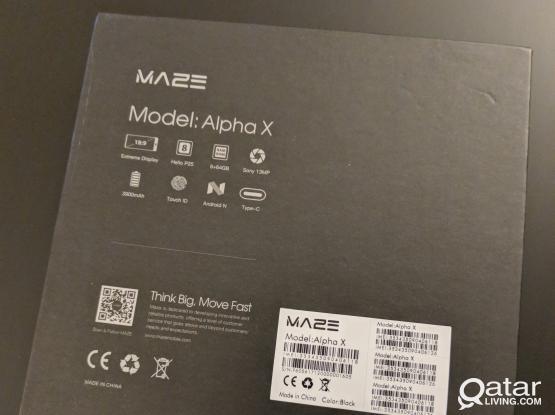 Maze alpha x 64gb rom 6gb ram new