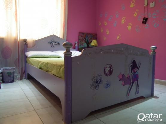 BEDROOM SET ( GIRLS)+ SOFA SET + SOCCER GAME