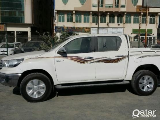 Hilux pickup for rent @ 2500 riyals per month call 66319932