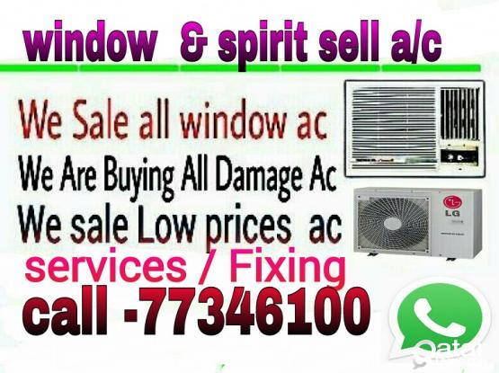 a/c sell & fixing   window & split & services, Repairing ,Gass. low price ,whatsapp. 773