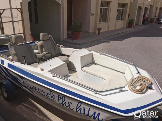 19ft boat with mercury engine 60HP