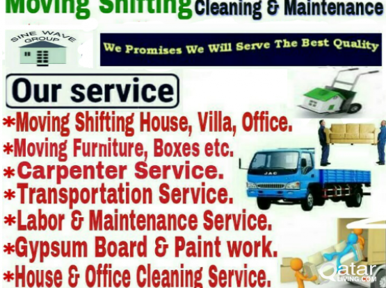 House Shifting, Moving & Maintenance com. Best Service, Good price . Call# 74042232 (whats