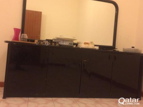 table &. wall glass total 200/-